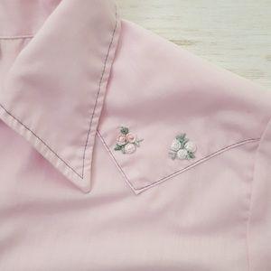 Vintage western pearl snap shirt sz S/M